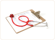 stethoscope and list form