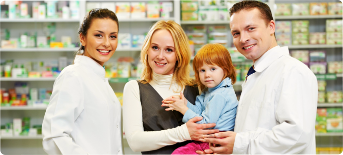Two pharmacist, Mother and his daughter